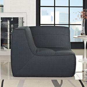 Align Upholstered Corner Sofa in Charcoal