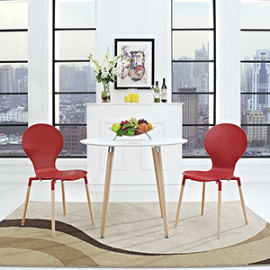 Path Dining Chair Set of 2 in Red