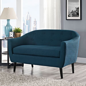 Wit Loveseat in Azure