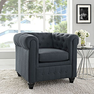 Earl Fabric Armchair in Gray