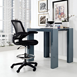 Veer Drafting Stool in Black