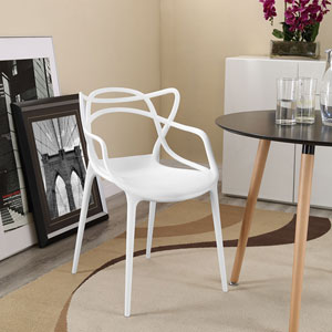 Entangled Dining Armchair in White