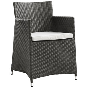 Junction Brown and White Outdoor Patio Armchair