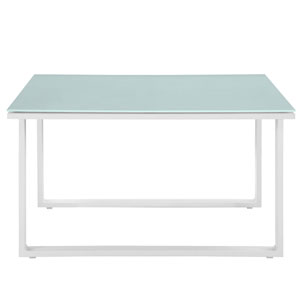 Fortuna Outdoor Patio Side Table in White