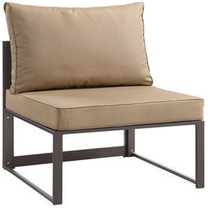 Fortuna  Brown and Mocha Outdoor Armless Chair