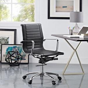 Runway Mid Back Office Chair in Black