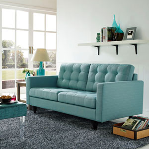 Empress Upholstered Loveseat in Laguna