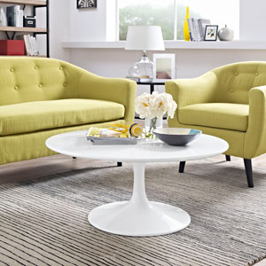 Lippa 36-inch Coffee Table in White