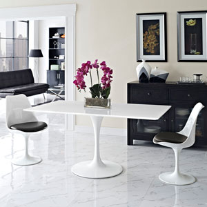 Lippa 60-inch Rectangle Dining Table in White
