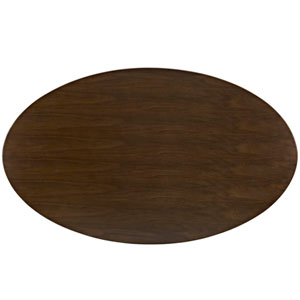 Lippa 78-inch Wood Dining Table in Walnut