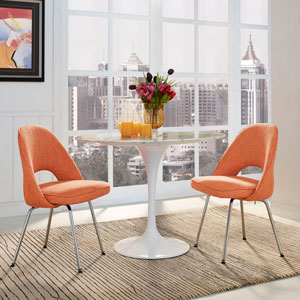 Cordelia Dining Chairs Set of 2 in Orange