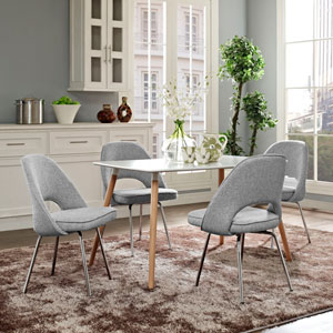 Cordelia Dining Chairs Set of 4 in Light Gray