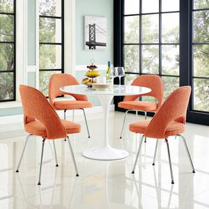 Cordelia Dining Chairs Set of 4 in Orange
