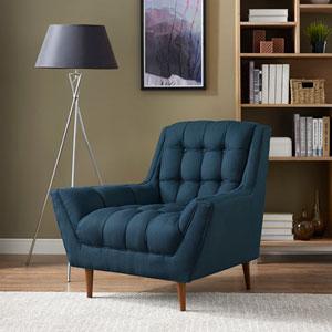 Response Fabric Armchair in Azure