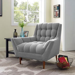 Response Fabric Armchair in Expectation Gray