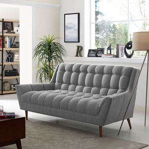 Response Fabric Loveseat in Expectation Gray