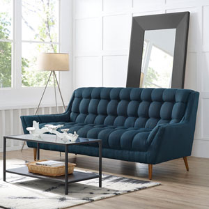 Response Fabric Sofa in Azure