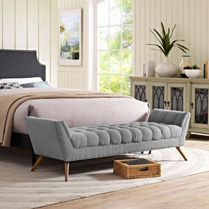 Response Fabric Bench in Expectation Gray