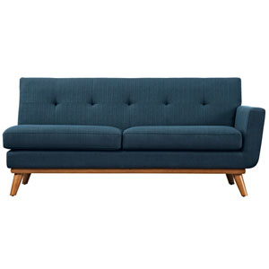Engage Right-Arm Loveseat in Azure