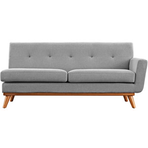 Engage Right-Arm Loveseat in Expectation Gray