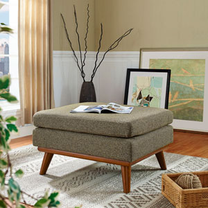 Engage Fabric Ottoman in Oatmeal