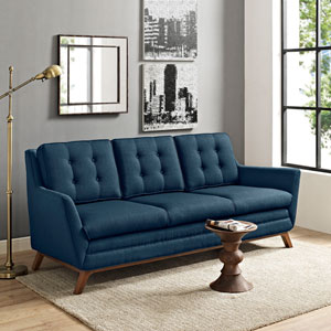 Beguile Fabric Sofa in Azure