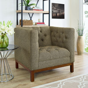 Panache Fabric Armchair in Oatmeal