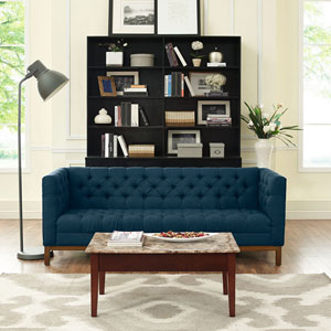 Panache Fabric Sofa in Azure