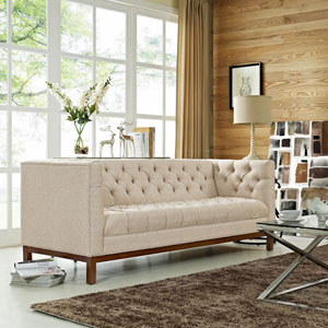 Panache Fabric Sofa in Beige