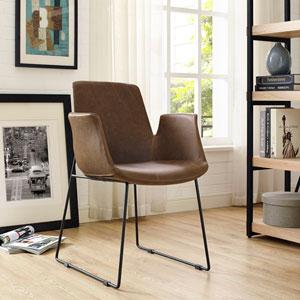 Aloft Dining Armchair in Brown