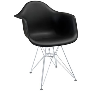 Paris Dining Armchair in Black