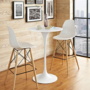 Lippa 28-inch Wood Bar Table in White