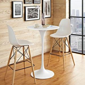 Lippa 28-inch Wood Bar Table in White