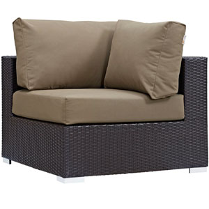 Convene Outdoor Patio Corner in Espresso Mocha