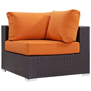 Convene Outdoor Patio Corner in Espresso Orange