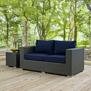 Sojourn Outdoor Patio Sunbrella® Loveseat in Canvas Navy