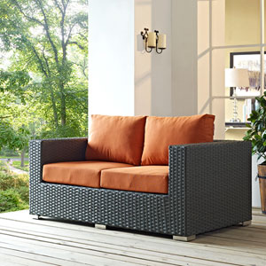 Sojourn Outdoor Patio Sunbrella® Loveseat in Canvas Tuscan