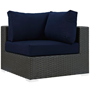 Sojourn Outdoor Patio Sunbrella® Corner in Canvas Navy