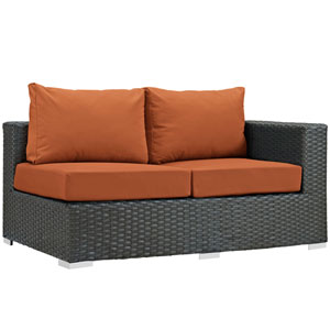 Sojourn Outdoor Patio Sunbrella® Right Arm Loveseat in Canvas Tuscan