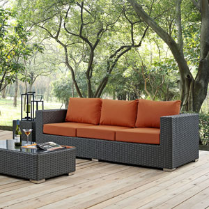 Sojourn Outdoor Patio Sunbrella® Sofa in Canvas Tuscan