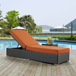 Sojourn Outdoor Patio Sunbrella® Chaise Lounge in Canvas Tuscan