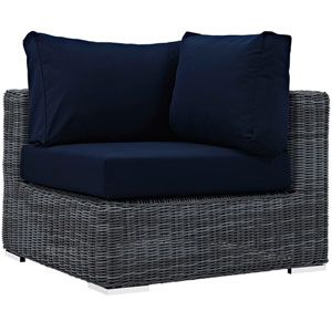 Summon Outdoor Patio Sunbrella® Corner in Canvas Navy
