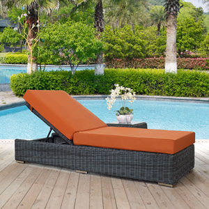 Summon Outdoor Patio Sunbrella® Chaise Lounge in Canvas Tuscan