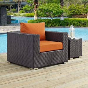 Convene Outdoor Patio Armchair in Espresso Orange