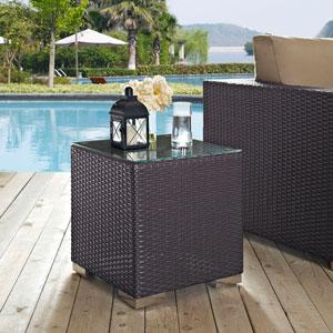 Convene Outdoor Patio Side Table in Espresso
