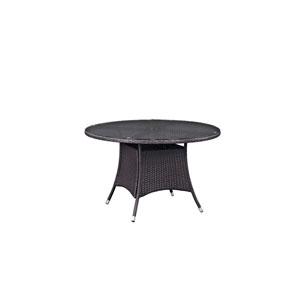 Convene 47-inch Round Outdoor Patio Dining Table in Espresso