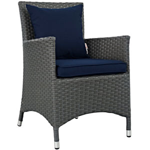 Sojourn Dining Outdoor Patio Sunbrella® Armchair in Canvas Navy