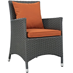 Sojourn Dining Outdoor Patio Sunbrella® Armchair in Canvas Tuscan