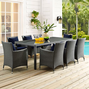 Sojourn 82-inch Outdoor Patio Dining Table in Chocolate