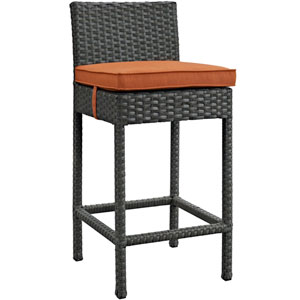 Sojourn Outdoor Patio Wicker Sunbrella® Bar Stool in Canvas Tuscan